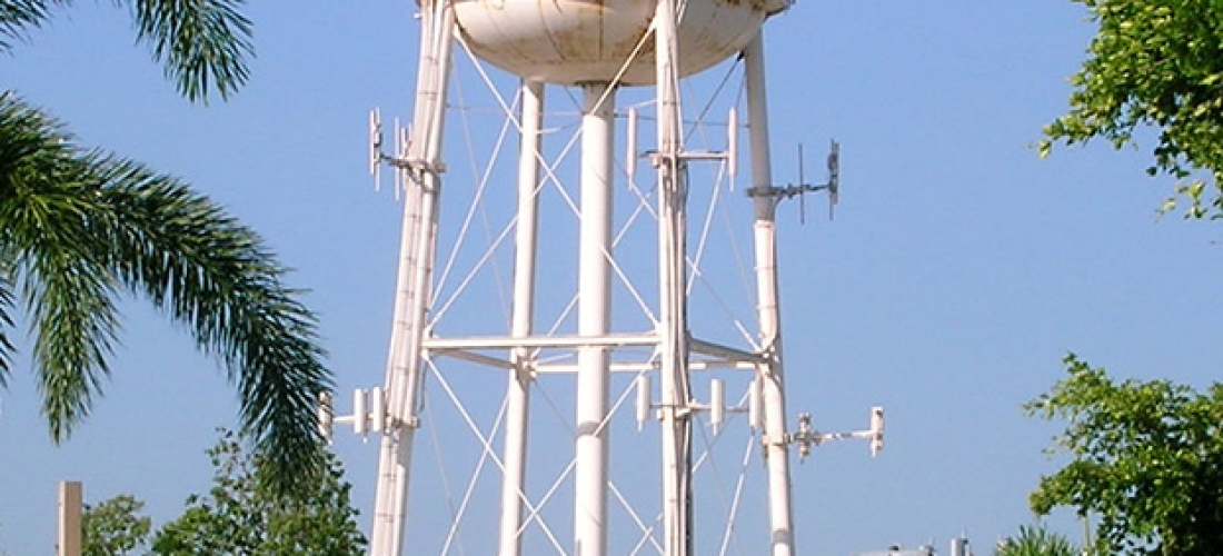 Water Tower Antenna Install