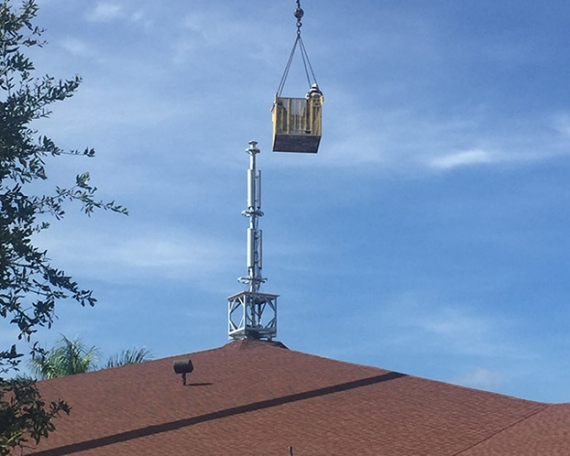 Church Steeple Tower Install